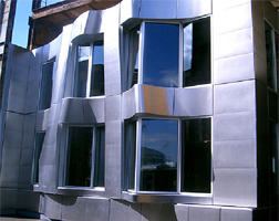 Close up of the Beekman Tower enclosure system is shown.